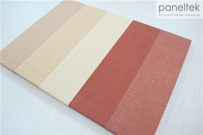 Sandblasted Ceramic Wall Cladding / Ceramic Rainscreen Cladding Wall Decoration
