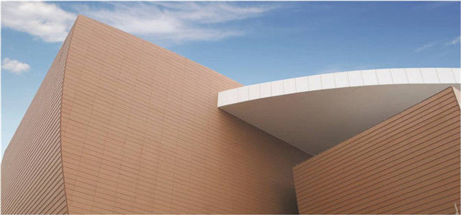 Classic Terracotta Ventilated Facade , Anti - UV Building Facade Materials